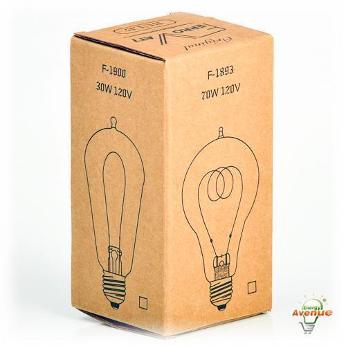 Ferrowatt F1920Q 12060 Antique Quad Loop Filament Light